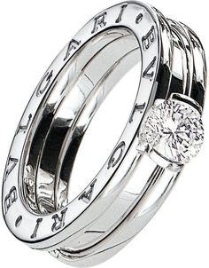 Bvlgari B.zero1 18ct White-Gold and Diamond Solitaire Ring