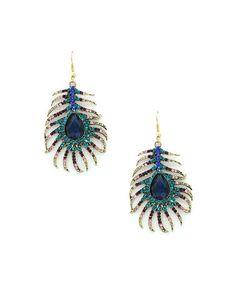 Loving this Teal Drusy & Goldtone Peak Drop Earrings on #zulily! #zulilyfinds