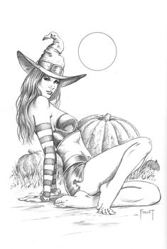 Witch in a Pumpnkin Patch by MitchFoust on DeviantArt
