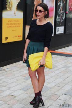 London fashion week street style #LFW #pretty colors