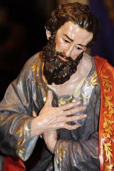La Última Cena. Cofradía de Ntro. Padre Jesús Nazareno de Murcia. Obra de Francisco Salzillo. 1763 || San Bartolomé: mantiene la compostura