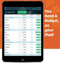 YNAB- budget on ipad #ad free trial, also app for iphones and androids