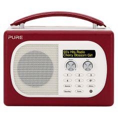 Pure dab radio in blue