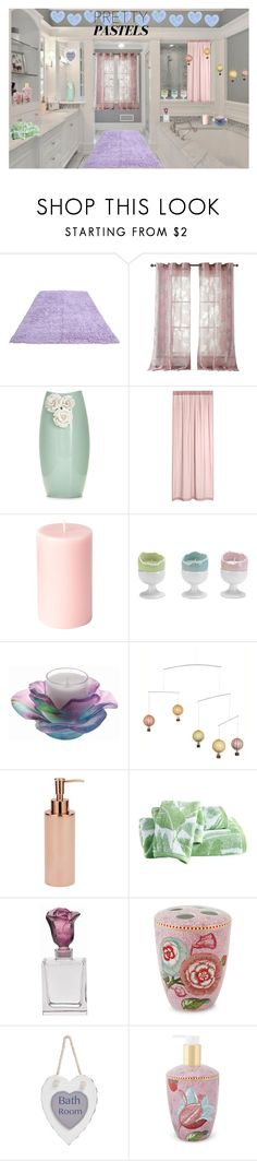 """MY PASTEL BATHROOM"" by lizzyslegs ❤ liked on Polyvore featuring interior, interiors, interior design, home, home decor, interior decorating, Kensie, Daum, Destinations and PiP Studio"