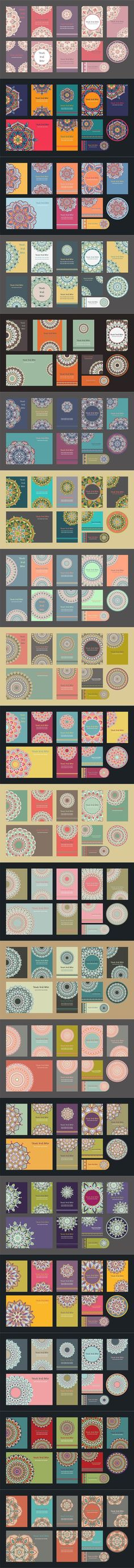 Mandala Vintage Template Card.. Creative Card Templates