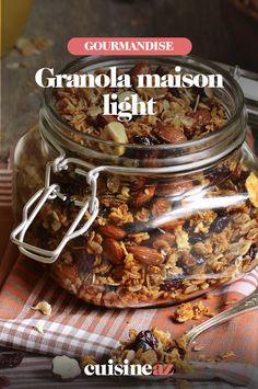 Une recette de granola maison light pour le petit déjeuner. #recette#cuisine #granola #recettelight #petitdejeuner