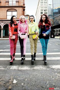 Jade Thirlwall, Leigh-Anne Pinnock, Jesy Nelson and Perrie Edwards of Little Mix Little Mix Outfits, Little Mix Girls, Little Mix Style, Crazy Outfits, Amazing Outfits, Jesy Nelson, Perrie Edwards, Teen Vogue, Lady Gaga