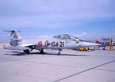 Foto de uno de los F-104G en Torrejón. http://www.karo-aviation.nl/