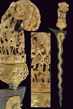 A Kris: provenance: Indonesia dimensions: length 47,5 cm. dating: 19th Century