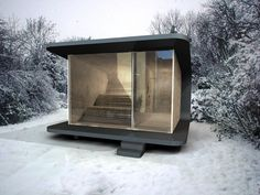sauna like Russians- get sweaty roll around in the snow warm up again (supposedly good for immune system and invigorates metabolism ) Contemporary Saunas, Modern Saunas, Interior Architecture, Interior And Exterior, Interior Design, Sauna Design, Outdoor Sauna, Tiny House, Small Buildings
