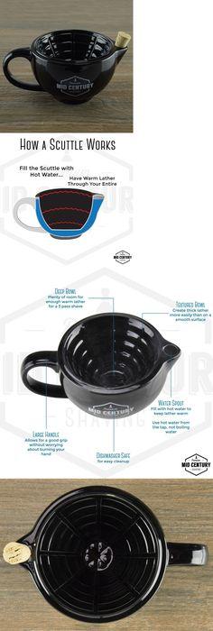 Shaving Brushes and Mugs: Shaving Scuttle - Bowl Or Mug Alternative - Keeps Lather Warm While Wet Shaving -> BUY IT NOW ONLY: $229.99 on eBay!