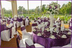 Love the purple in this venue!