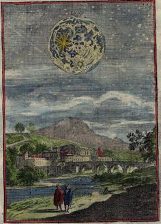 Description de L'Univers  View of the moon, 1719*  by Alain Manesson Mallet, Paris 1683