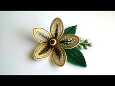 Quilling a flower with a comb. Quilling Tutorial. - YouTube