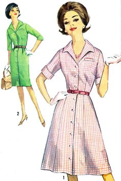 1960s Dress Pattern Simplicity 5027 Slim or A Line by paneenjerez, $10.00