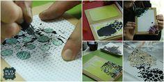 Probando el gesso negro con lápiz acuarelables  con los papeles de Gliztdesign Playing Cards, Scrapbook, In This Moment, Watercolor Pencils, Mini Albums, Atelier, Paper Envelopes, Black, Scrapbooks