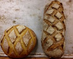 Pain campagne et pain polka