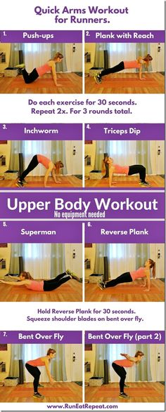 No Equipment Arms Workout for Runners http://runeatrepeat.com/2017/01/12/no-equipment-arms-workout-for-runners/