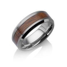 """Tungstino Ring """"Rosenholz"""" Wolframcarbid"""