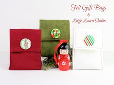 DIY Button : DIY Felt Gift Bags with Buttons