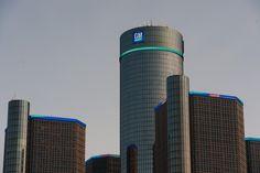 GM:s huvudkontor, Renaissance Center i Detroit.