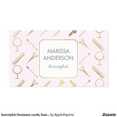 The perfect business card for a hairstylist and beauticians. Card features all…