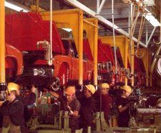 Porsche 914 production at the Karmann factory in Osnabrück