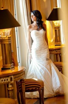 Beautiful hair for a beautiful bride....OH YEAH....I love the dress