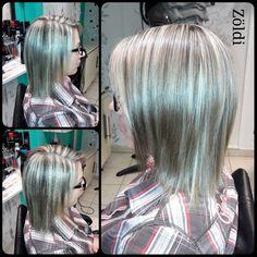 #zöldiszilvia #munkám #mywork #hajvágás #haircut #hajfestés #haircolor #melír #lovemyjob #imádomamunkám #matrix #matrix #matrixcolor #matrixhair