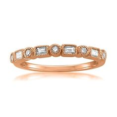 online shopping for Diamonds Rose Gold Round & Baguette Diamond Bridal Wedding Band Ring cttw, I-J, from top store. See new offer for Diamonds Rose Gold Round & Baguette Diamond Bridal Wedding Band Ring cttw, I-J, Curved Wedding Band, Diamond Wedding Bands, Or Rose, Rose Gold, Gold Engagement Rings, Engagement Jewelry, Baguette Diamond, Vintage Diamond, Gold Bands