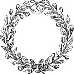 Free Vector File and Clip Art Image - Vintage Floral Wreath