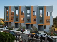 Roxbury E+ are new townhomes built under the Boston E+ Green Building Program initiative. Consisting of four 3-bedroom attached homes, the units feature backyards, third-level terraces and photovoltaic solar systems
