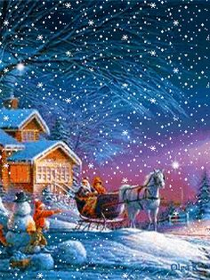 christmas animated - Animated Christmas Scenes
