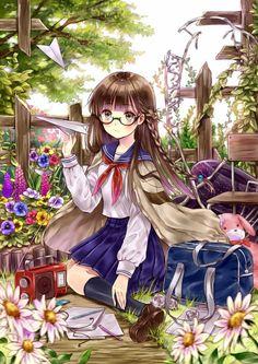 Kết quả hình ảnh cho anime girl in a garden