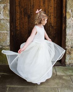 ae4adfe483f8 Our Sarah Tulle Ballerina dress is a good combination of floatiness and   poofiness !