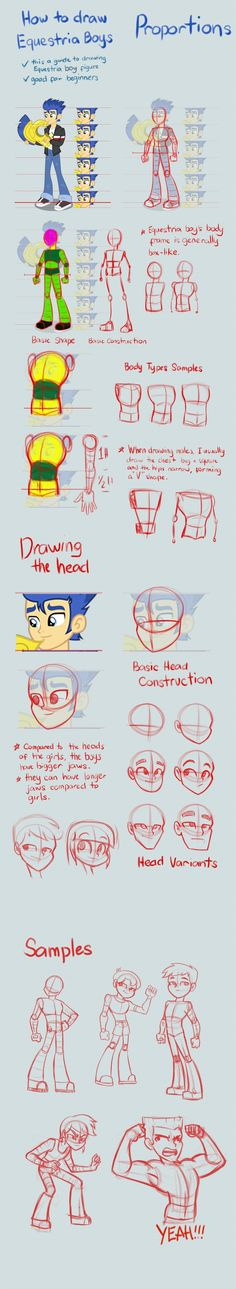 Equestria Boys Tutorial: Proportions by Kanduli.deviantart.com on @deviantART