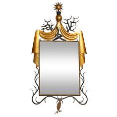 Gibert Poillert Style Mirror.    1stdibs.com