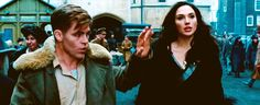 What are you? You will soon find out. Steve Trevor and Wonder Woman