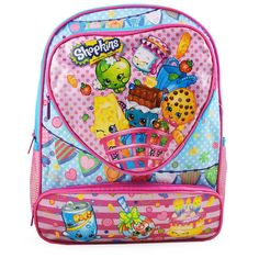 Ideal for the Shopkins fan in the house comes this adorable Shopkins backpack. Backpack measures 14 in (L) x 12 in (W)