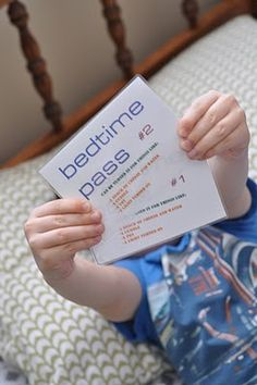 Bedtime passes…cute for stockings…to stay up an extra 15 or 20 minutes. This is cute, I'll have to remember this one day!