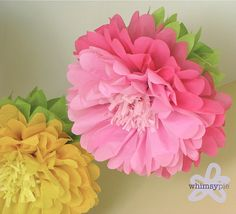 WONDERLAND IN BLOOM. 5 Giant Hanging Paper Flowers by whimsypie