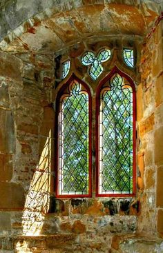 Medieval Abby Window, East Essex, England.