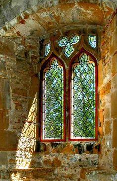 Medieval Abby Window, East Essex, England.