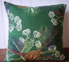 vintage barkcloth pillow $26 from etsy