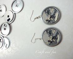Simpatici orecchini ottenuti riciclando un floppy disk