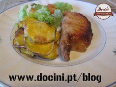 Lombo de Porco com Cerveja e Chips de Batata Doce