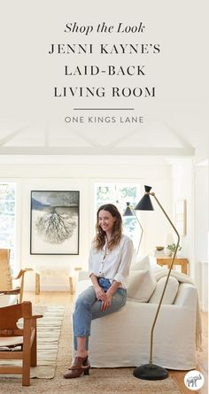 Love the look of fashion designer Jenni Kayne's easy, breezy, laid-back California style? Then you're going to want everything in her brand new living room makeover, designed by The Studio at One Kings Lane. Shop everything you need to get the look at home, right here!