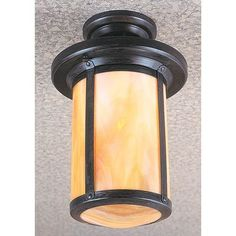 Arroyo Craftsman Berkeley 1 Light Semi Flush Mount Finish: Bronze, Shade Color: Rain Mist