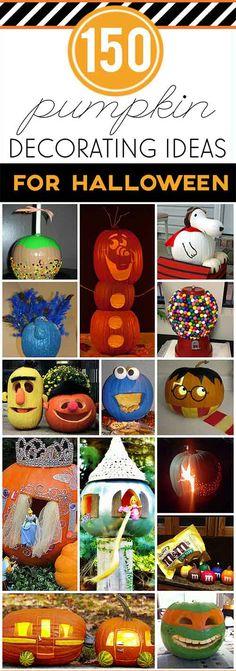 150 Creative Pumpkin Ideas for Halloween