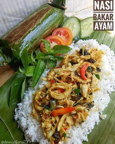 Nasi Liwet, Nasi Bakar, Rice Recipes, Asian Recipes, Cooking Recipes, Healthy Recipes, Dessert Recipes, Do It Yourself Food, Indonesian Cuisine